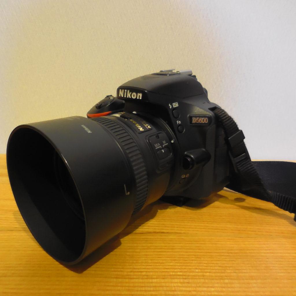 Nikon D5600とAF-S 50mm1.8Gレンズ